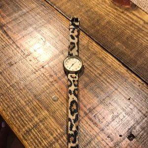 Timex Leopard print watch
